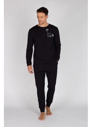 Hays Pijama Takım Siyah